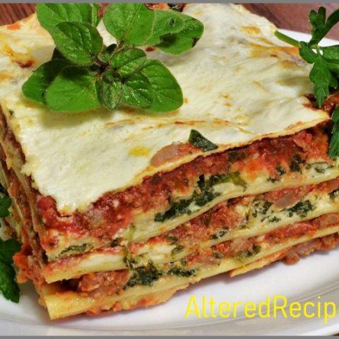 Low Fat Lasagna